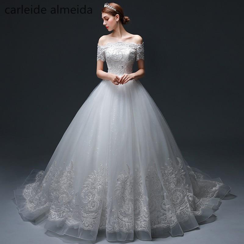 Vestido de Noiva Off-the-ώμου μπάλα φόρεμα - Γαμήλια φορέματα - Φωτογραφία 1