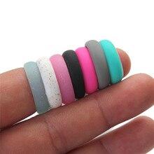 Moda Popular 5 5 5 6 6 7 8 9 tamaño medio ambiente de silicona anillo hembra para mujeres Oficina dama dedo de la joyería