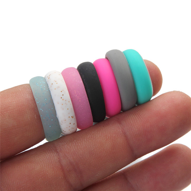 Trendy Popular 5 6 7 8 9 Size Environmental silicone Female Ring For Women Girls