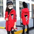 Girls Clothing 2016 Teenager Girls Winter Coat Wool Jackets Outerwear Cartton Warm Coat Kids Jacket for Girls Children Clothes