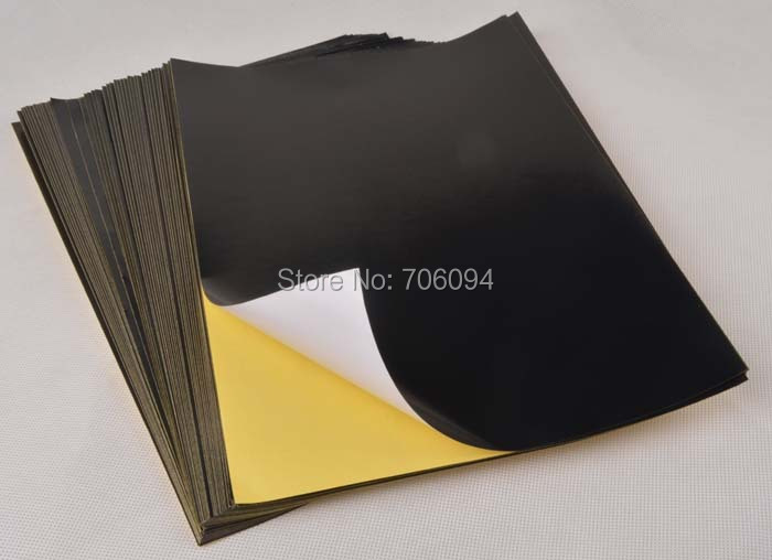 100sheets a4 glossy black sticker paper label printing