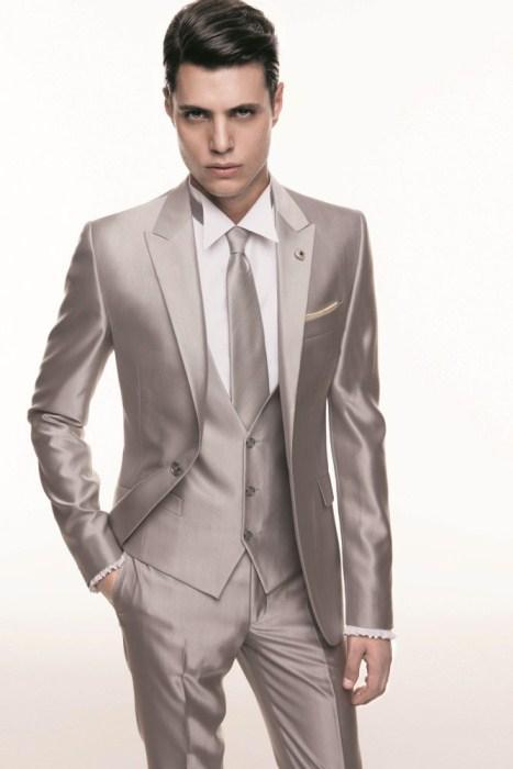 Aliexpress.com : Buy Custom Tuxedos Gentleman Style Shiny Grey ...