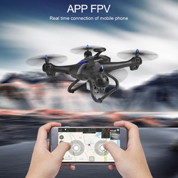 2.4G RC Drone Quadrocopter with 720P Camera HD GPS 5 Inch LCD Remote Control Quadrocopter 2000mAh 3D rollover 4Channels