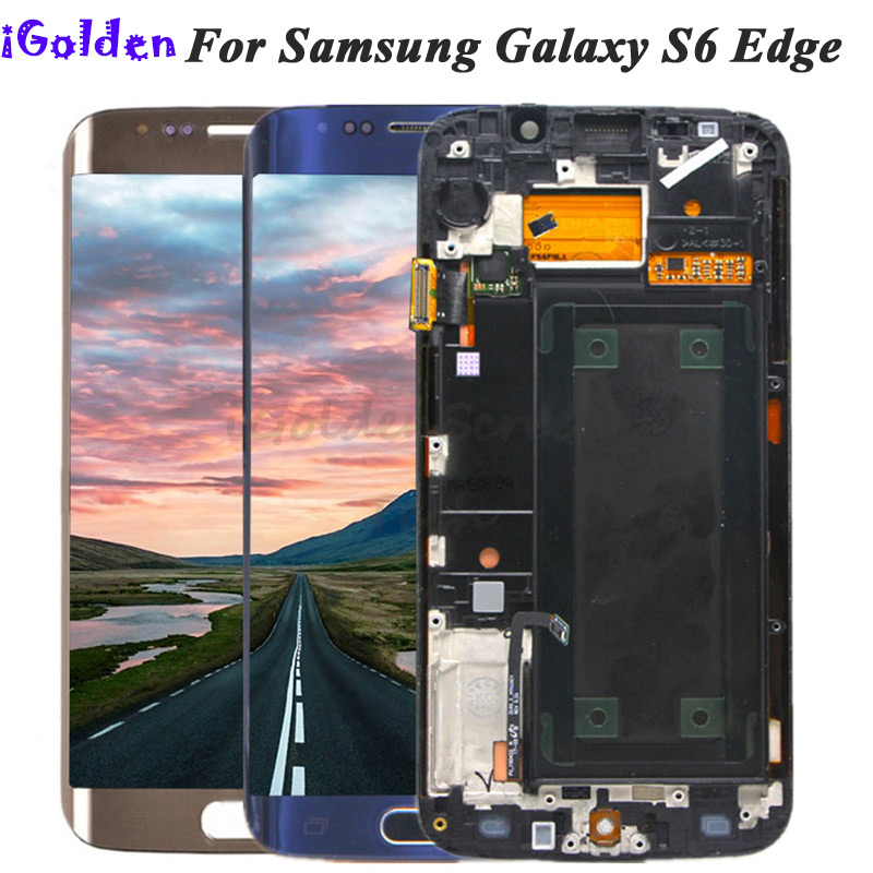 5 1For Samsung Galaxy S6 Edge G925 G925F SM G925F LCD Display Touch Screen Digitizer Assembly