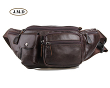 J.M.D New Arrivals Genuine Leather Male Fashion Brown Color Portable Bag Mens Waist Purse Style 7210C