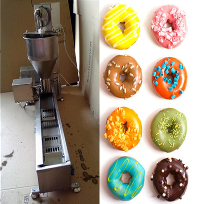 Commercial electric donut maker doughnut making machines snack food processing machine 90mm big size donut waffle machine automatic electric mini commercial donut making machines