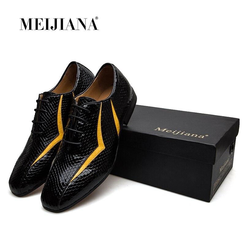 MEIJIANA 2018 nuevo zapato de cuero genuino para hombres zapatos Oxfords marca zapatos de banquete-in Zapatos oxford from zapatos    2