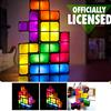 DIY Tetris Block Stackable Constructible LED Light Desk Night Lamp US EU Plug
