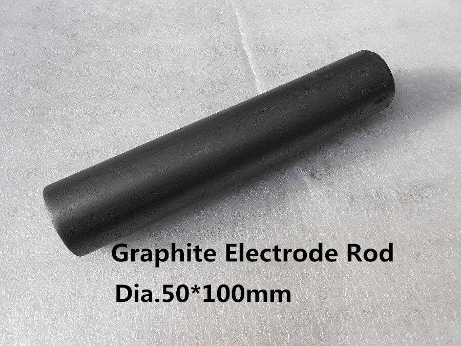 Dia.50*100mm graphite electrode rod / Carbon graphite stirring rod Stick /graphite rod for electrode dia 200 20mm carbon graphite round plate graphite stir rod melting gold silver stirring rod graphite for mixing silver