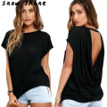snowshine #3001  Women Loose Batwing Sleeve Backless  Casual Tops T-Shirt  free shipping