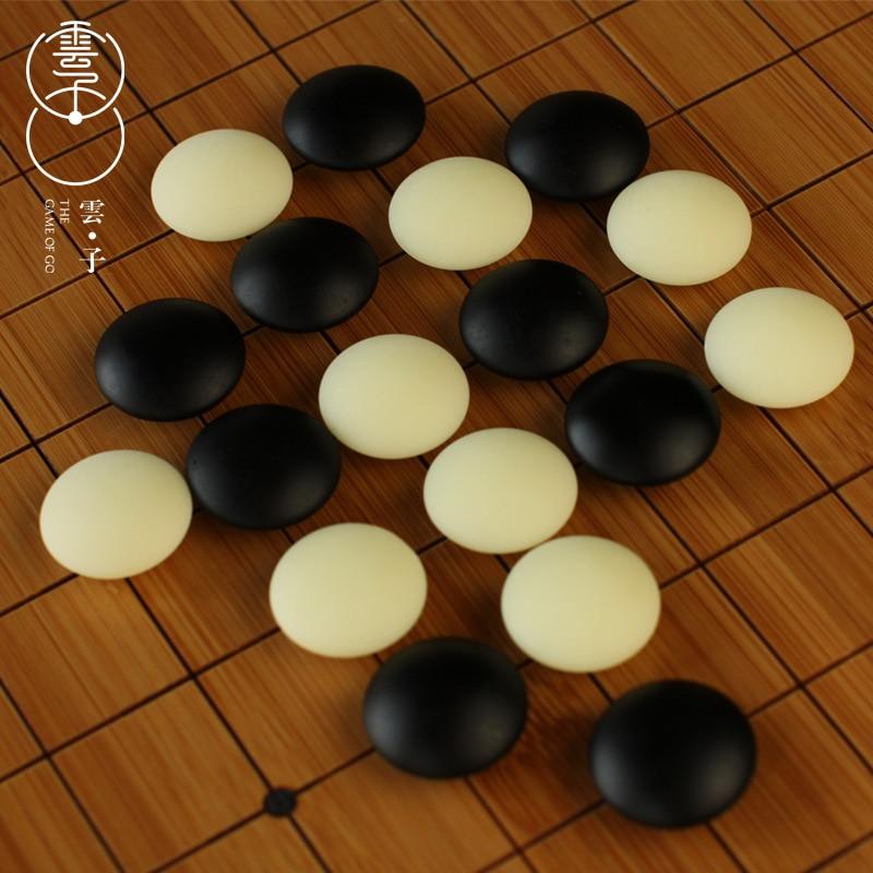 BSTFAMLY Go échecs vieux Yunzi D deux côtés pièces diamètre 2.2 cm pour 19 route 361 pcs pas d'échiquier chinois vieux jeu de Go Weiqi LB39