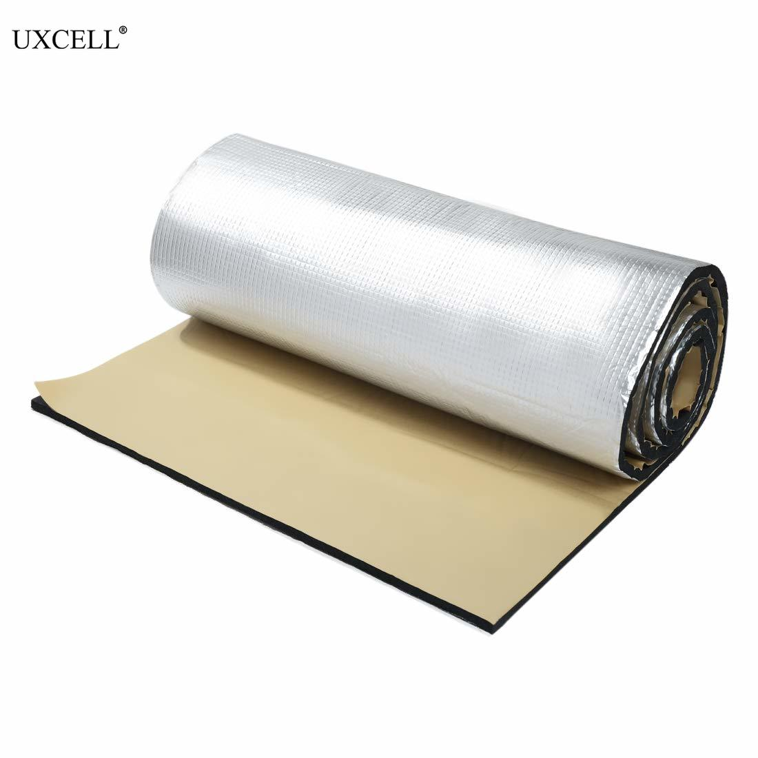 Uxcell 10mm Thick Alumina Fiber+ Muffler Cotton Car Automotive Heat Insulation Sound Deadener Road Noise Dampener Thermal Mat