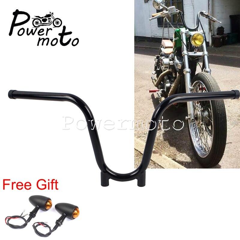 "Black Ape Hanger Bar Handlebars 7//8/"" 22mm Push Bike Chopper Bicycle"