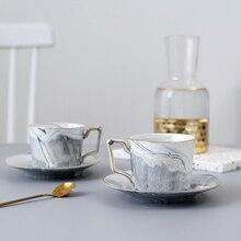 Marbling Coffee Cup Saucers ceramic tea cup porcelain coffee cups  English afternoon teacup design tazas de cafe Mug