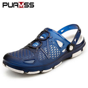 PUAMSS 2019 Men Sandals Summer Slippers Beach Male