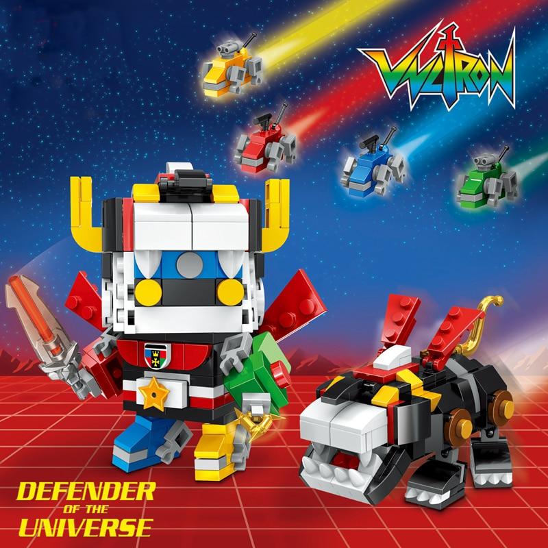 Legoinglys 455pcs Super Heroes The God of War King Kong Voltron Team Godmars Movie Series Building Blocks Toys for children
