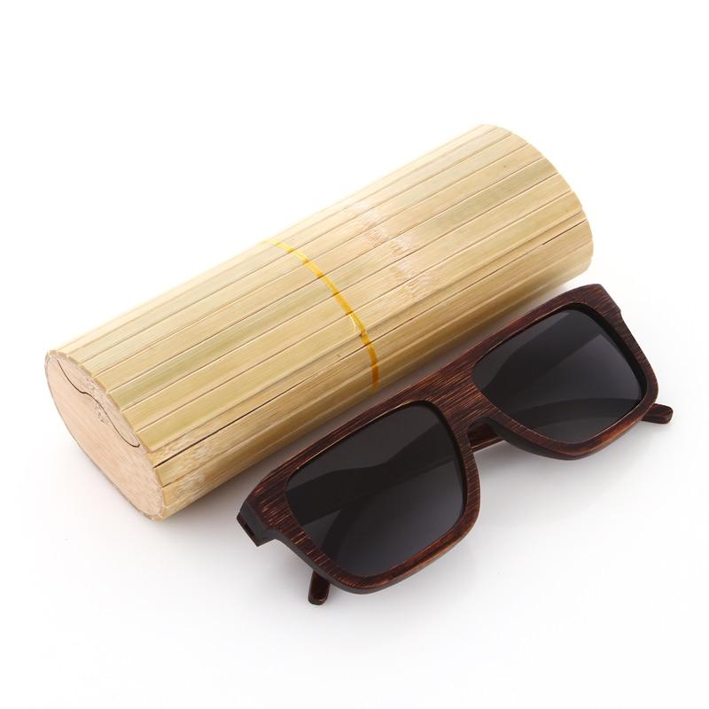 EZREAL šaunūs mediniai bambuko saulės akiniai vyrams Mediniai - Drabužių priedai - Nuotrauka 1