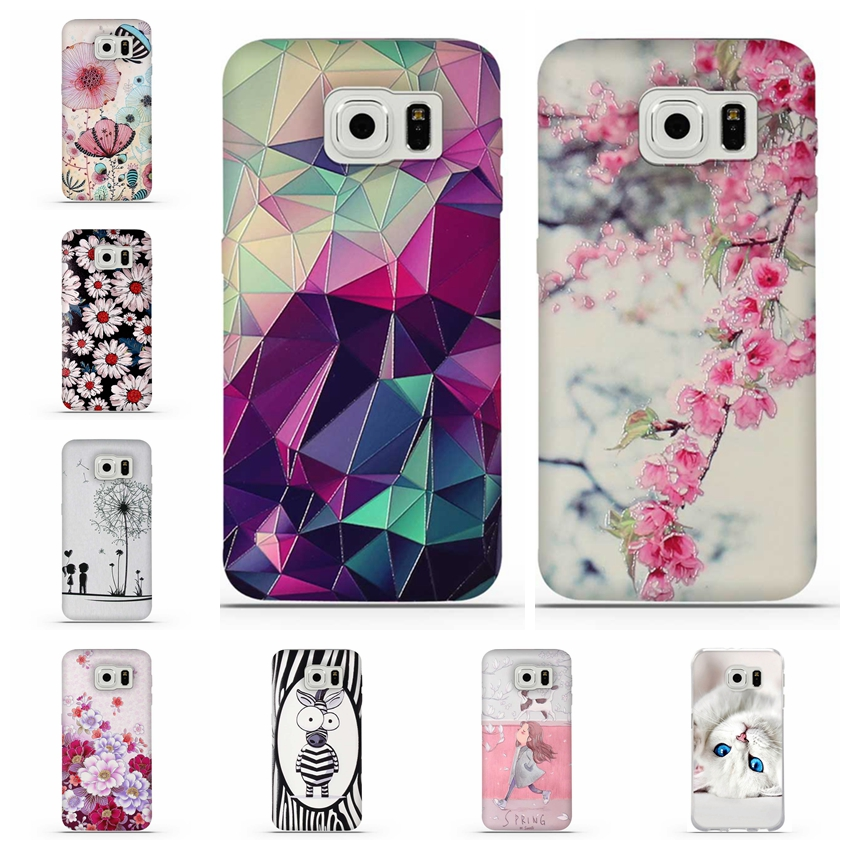 For Coque Samsung S6 Case 3D Relief Printing Silicone TPU Cover For Galaxy S6 Phone Case For Coque Samsung Galaxy...  samsung s6 case | Top 6: Best Galaxy S6 Cases! For Coque font b Samsung b font font b S6 b font font b Case b