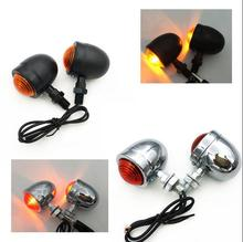 Chrome/black Universal Bullet Motorcycle Turn Signal Indicator Amber Blinker Lights Lamp motorcycle