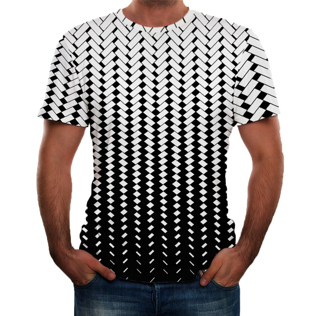 Mens New Short Sleeves with Holes in Summer Fashion Comfortable Blouse Top