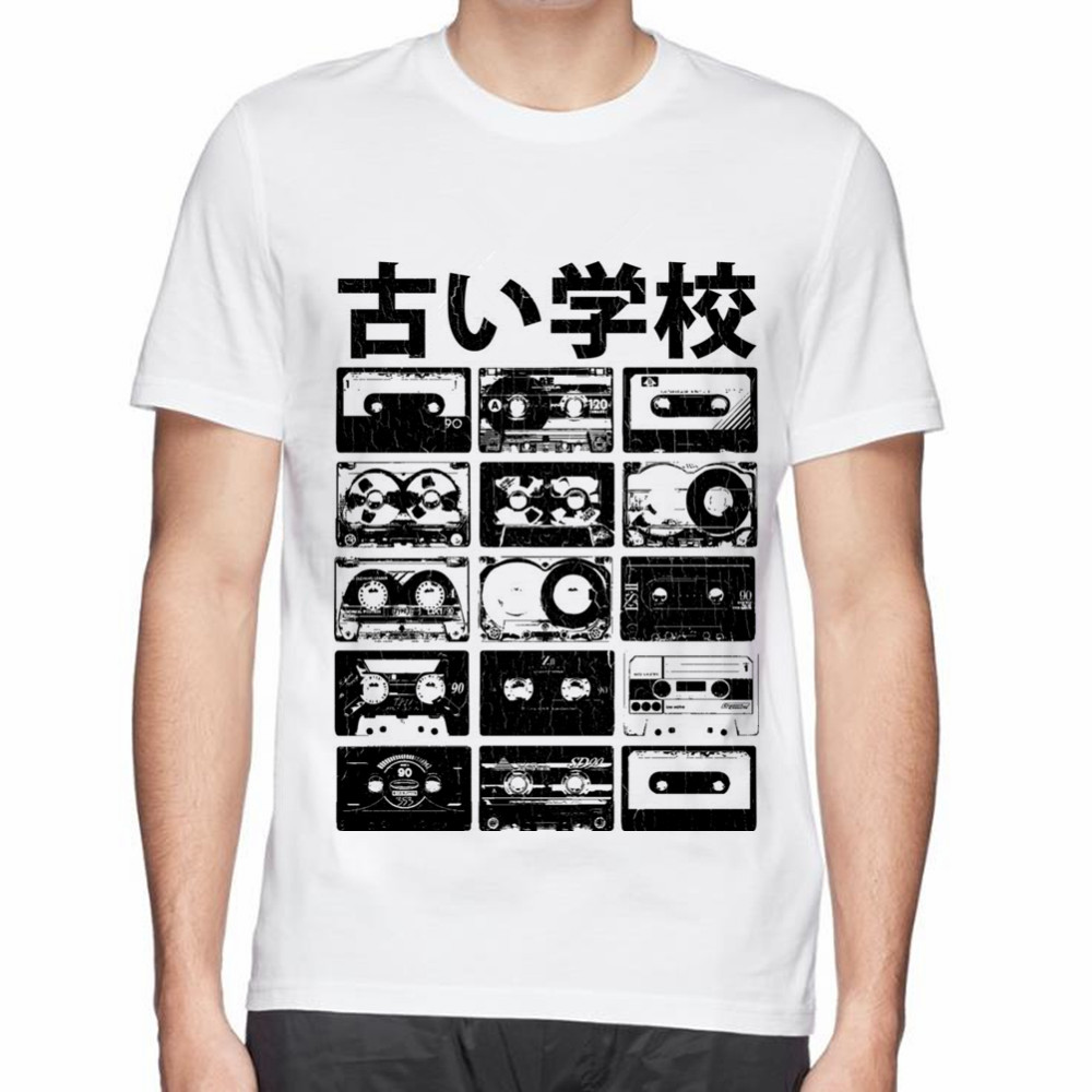 Design t shirt for cheap - Old School Cassettes Design Print Men Cotton T Shirt Tee Tops China