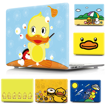 Yellow Duck Print Pattern Protective Hard Shell Sleeve for Apple Macbook Air 11 Pro 13 12 15 Cover Case Mac 11.6 13.3 15.4