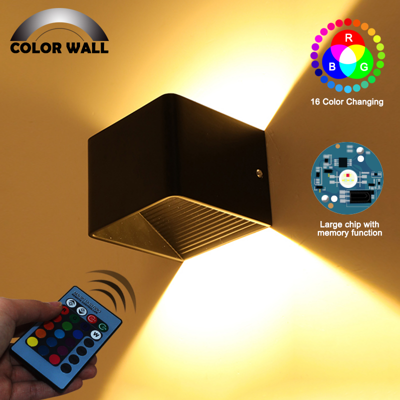 Led Lamps Indoor 3w 5w Led Bedroom Bedside Night Lights Ac85-265v Aluminum Children Art Square Night Lamp Wall-mount For Study Room