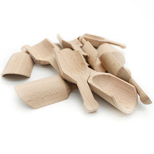 Mini Beech Wooden Scoops Spoon for Candy Spices Parties Home Kitchen Tool Supplies Cutlery Tableware(China)