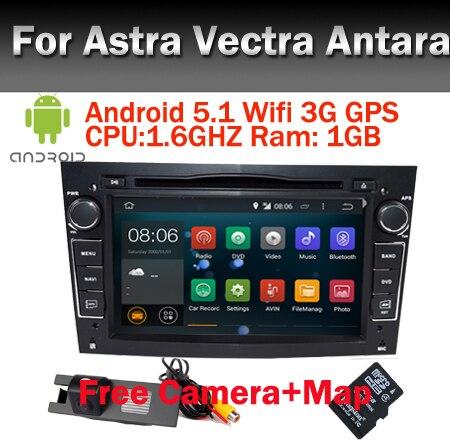 Свободная Камера + Карта 2 Din Автомобильный DVD GPS Android 5.1 Для Opel Astra h Vectra Antara Zafira Wi-Fi GPS Радио Зеркало Ссылка БД bluetooth