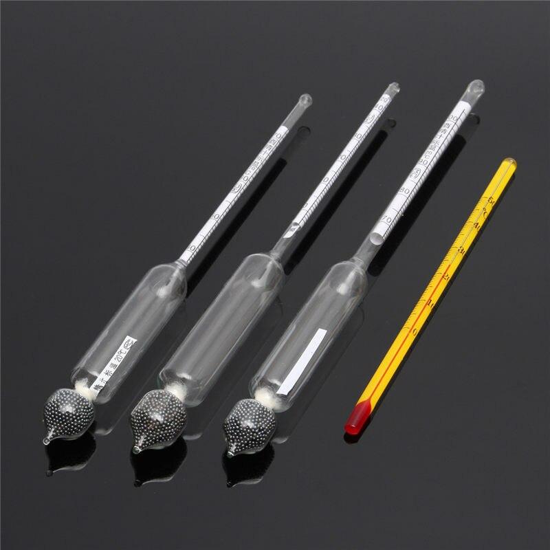 Alcool Densimètre Thermomètre Vinometer 0 À 100 Professionnel Alcool Mètres Testeur Mesure Preuve Instrument Bar Outil