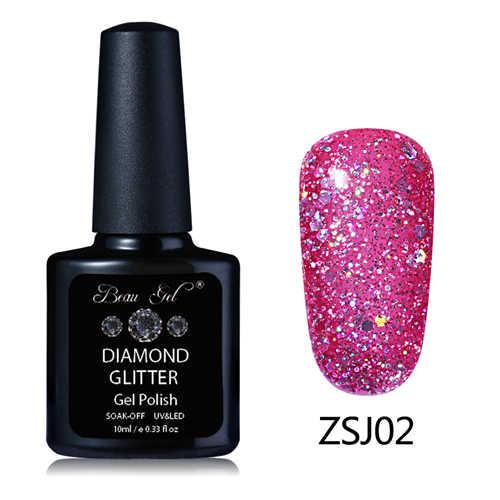 Novio Gel brillante estrellado 30 colores Gel pinturas laca uñas arte brillo perla diamantes remojo de platino UV LED Gel esmalte de uñas
