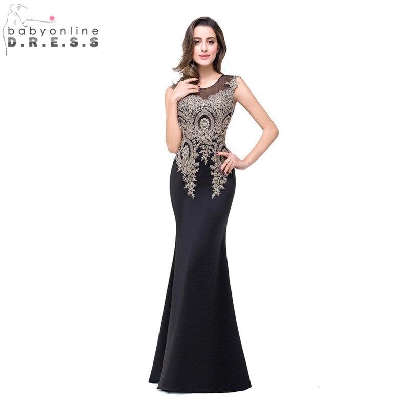 Online Shop Robe de Soiree Longue Cheap Black Lace Mermaid Evening ...