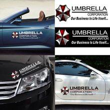 Autocollants de voiture, 1 pièce, Film réfléchissant, autocollant en forme de parapluie, pour porte, décalcomanies, décoration personnalisée, #271202