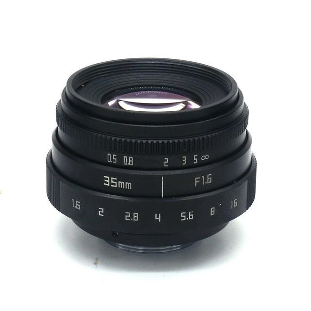 35mm F1.6 CCTV Lens C Mount For Sony Alpha A6500 A6300 A6000 A5100 A5000 NEX-6 NEX-7 NEX-5T NEX-5R NEX-3N APS-C E-Mount NEX