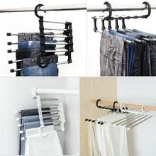 Hangers Pant-Rack Wardrobe Multi-Functional Shelves Stainless-Steel 5-In-1 Fashion Hot-Sale