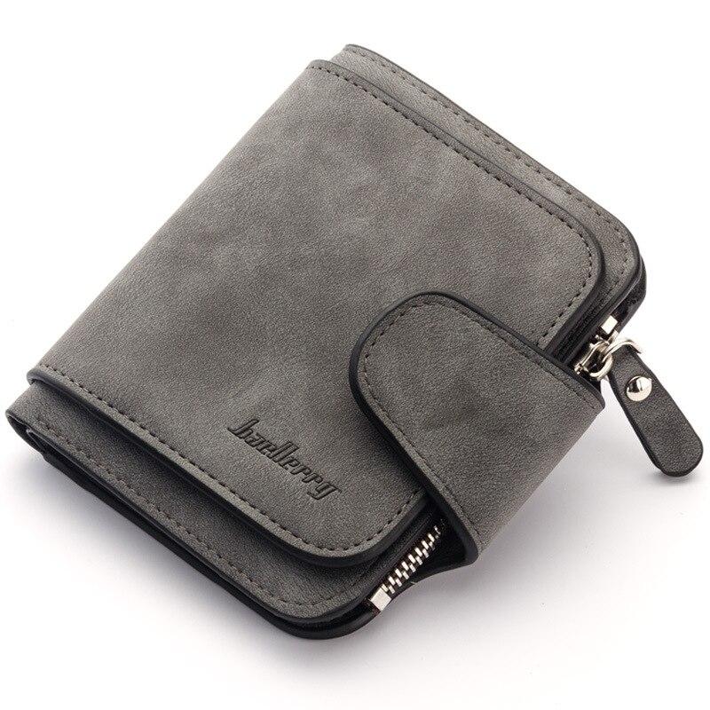 Retro Matte Small Women Wallets Luxury Brand Zipper Lady Wallet Female Clutch Wallet Vintage Wallet Bag Coin Purse Women Clutch