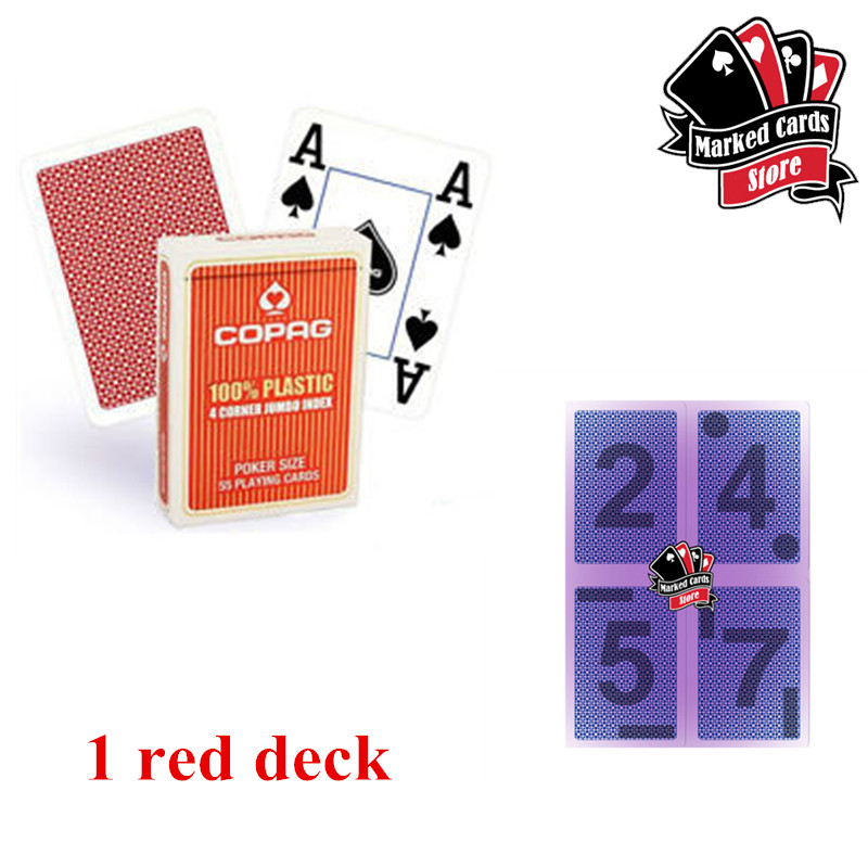 100/% Plastic Playing Cards Poker size jumbo index 10 decks