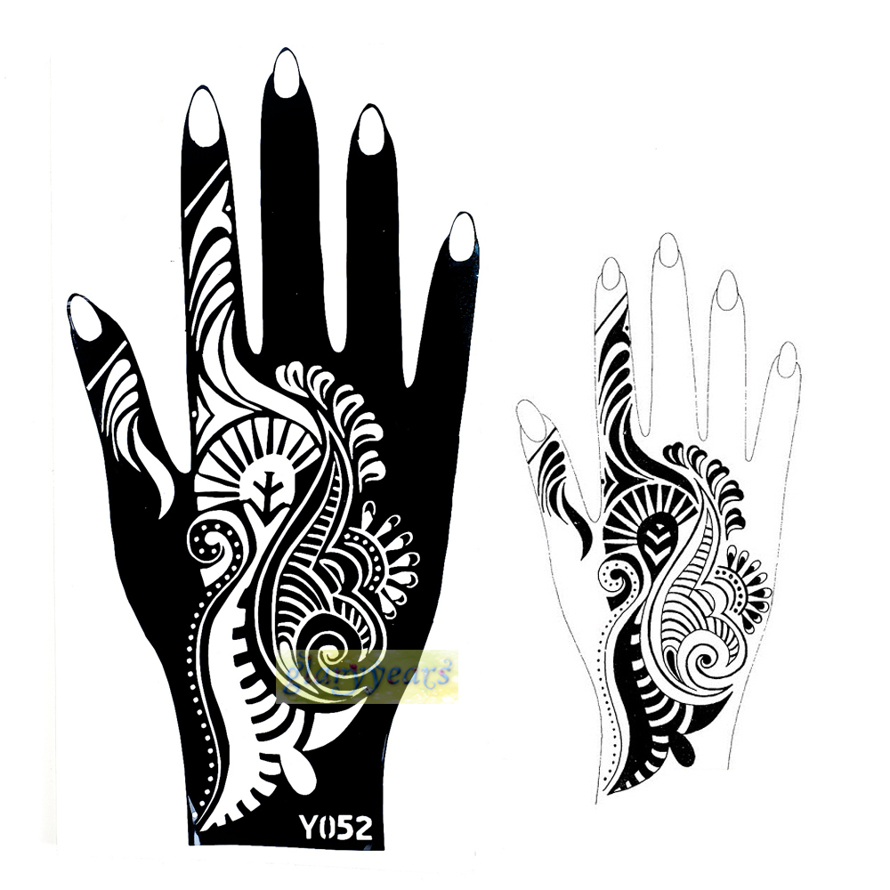 Henna Style Tattoos Lace Tattoo: 1pc New Indian Flower Lace Style Henna Mehndi Temporary