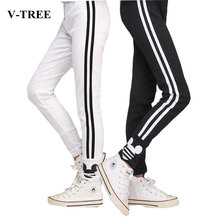 V-TREE 2016 autumn new teenage 6-14Y girls leggings cotton pants for girls sport leggings children school trousers kids clothing