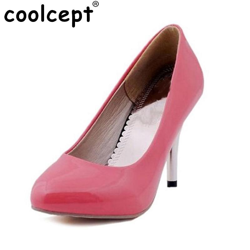 size 34-47 women high heel shoes platform lady sexy dress footwear fashion heels pumps P3928 hot sale EUR coolcept women high heel sandals platform fashion lady dress sexy slippers heels shoes footwear p3795 eur size 34 43