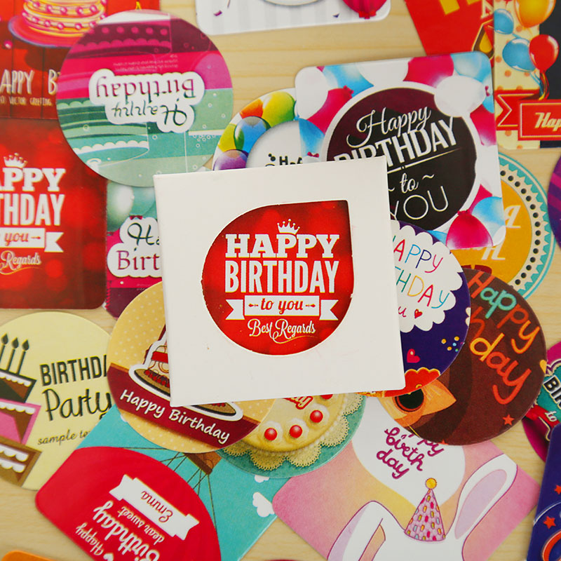 38 Pcs/box Happy Birthday Mini Sticker Set Decoration Decal Diy Album Scrapbooking Sealing Sticker Kawaii