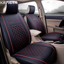 KADULEE pu leather car seat covers set for fiat palio peugeot 508 toyota auris kia rio 2 3 camry 50 alfa 147 car seats protector car seat cover auto seats protector accessories for peugeot 206 ford focus 2 fiesta kia rio mazda 3 vw passat b5 b6 kia sportage