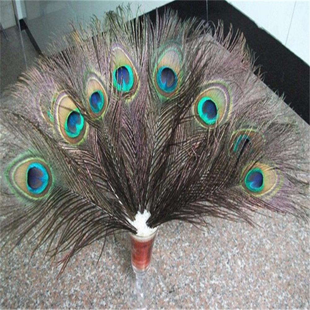 unid ojo de pavo real plumas naturales plumas de pavo real decoracin del partido de
