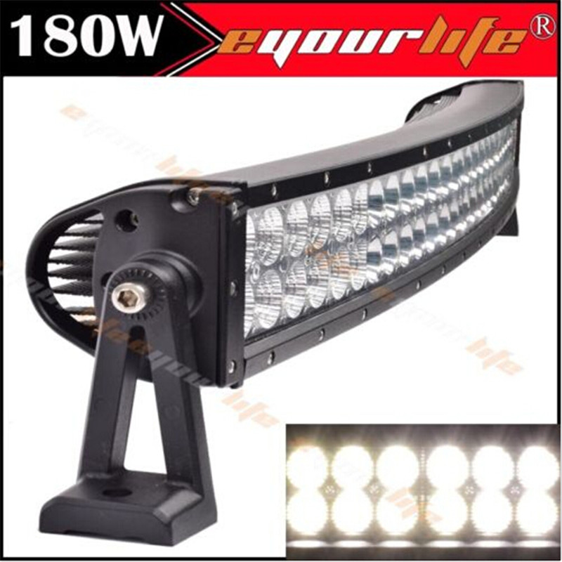 Eyourlife Led Curved Light Bar 32 180w Flood Spot Combo Light Bar Led Driving Light Offroad 4x4 SUV ATV Led Work Light 22 inch led bar offroad 120w led light bar off road 4x4 fog work lights for trucks tractor atv spot flood combo led lightbars