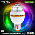 WX TOP!35 TSLEEN Mini E27 3W Full Color Stage DJ Light RGB Crystal Auto Rotating LED Bulb + Lamp Convertor Holder Socket Base