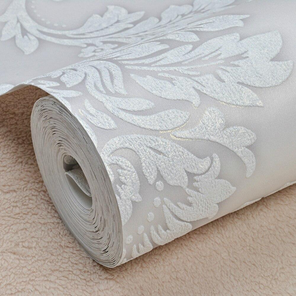 Relief metallic gold texture damask wallpaper for 3d wallpaper roll