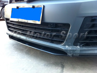 Car Accessories Carbon Fiber RZ Style Front Lip 3pcs Fit For 2010 2012 VW MK6 R20 Front Bumper Lip (for OEM Front Bumper)