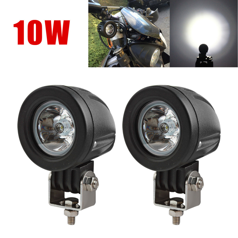 2pcs 10W Mini Tail LED Work Light Spot Flood Offroad Fog Lamp For Auto Car Off