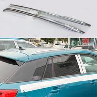 For Audi Q2 Q2L 2018 2019 Aluminium alloy Silver Top Roof Rails Rack Side Bars Decoration Trim Car Accessories