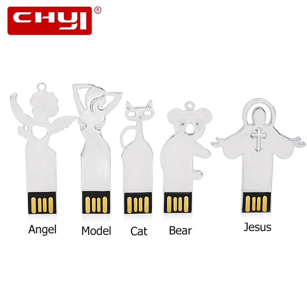 CHYI color plata Jesús Cruz Metal USB Flash drive 64 GB 32 GB 8 GB ...